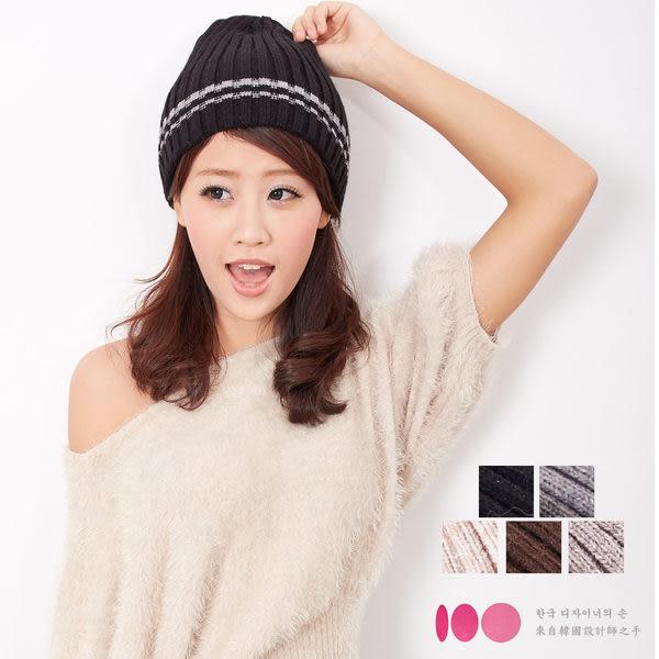 【MIT台灣製】台灣製 雙層扁帽+發熱紗 針織毛線帽(五色)