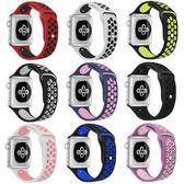 適用蘋果手錶錶帶耐克apple watch 錶帶iWatch4/3/2/1硅膠運動型4