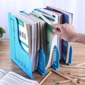大號可伸縮書立摺疊書架簡易桌上學生用簡約創意塑料書擋書靠書夾  NMS街頭潮人
