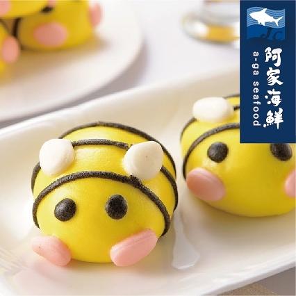 【阿家海鮮】蜜蜂地瓜包(10顆) 600g±10% 造型包子 蜜蜂包 地瓜餡 送禮 宴客 點心