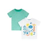 mothercare 2入白蟹先生短上衣-夏日記憶(M0PG133)12個月、4歲