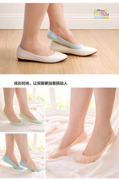 TwinS高級隱形帶矽膠防滑船襪淺口襪3雙【顏色隨機發貨】