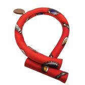 HERMES 愛馬仕 法國限定Petit H 紅色造型絲巾材質T字開口手環  【BRAND OFF】