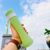 店長推薦戶外便攜水瓶個性運動水壺創意水袋潮流男女學生防摔折疊硅膠水杯【潮咖地帶】