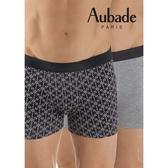 Aubade man-舒棉M-XL平口褲(閃星2件組)