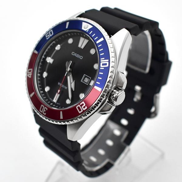 CASIO手錶 運動時尚紅藍水鬼膠錶NECH15