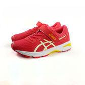 ASICS 亞瑟士 魔鬼氈 透氣吸震慢跑鞋 運動鞋 《7+1童鞋》5118 紅色(桃粉)