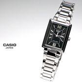 CASIO卡西歐 LTP-1238D-1A 方形 黑面 女錶 22mm 簡潔大方的三針-時 分 秒針設計 長方造型典雅時尚 方形