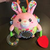寶寶推車掛件搖鈴響紙哈哈鏡床鈴嬰兒毛絨掛件球安撫玩具0-1歲