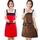 圍裙 韓版時尚可愛成人女廚房做飯防水罩衣...