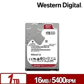 WD 威騰 紅標Plus 1TB 2.5吋NAS硬碟 (WD10JFCX)