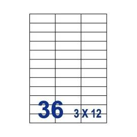 Unistar 裕德3合1電腦標籤紙 (64)UH2570 36格 (20張/包)