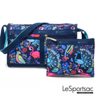 LeSportsac - Standard雙口袋斜背包-附化妝包 (熱帶島嶼) 7519P F651