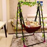嬰兒吊床 兒童家用室內搖籃椅宿舍陽台吊椅單人戶外鞦韆室內搖籃