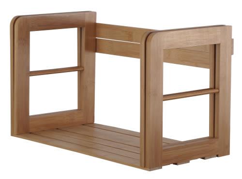 快速出貨 收納 書架 置物架【2672】竹生活桌上型伸縮收納架 多功能