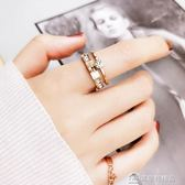 食指鈦鋼戒指女不掉色日韓玫瑰金潮人學生個性大氣時尚指環女   美斯特精品