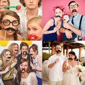【塔克】拍照組 紙鬍子 (16款入) 拍照組 鬍子 婚禮 婚慶創意 禮品 節日派對 拍照 紙鬍子