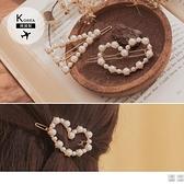 《ZB1014》韓國製造型珍珠髮夾兩入一組 OrangeBear