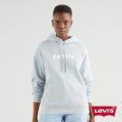 Levis 女款 重磅口袋帽T / 高密度膠印復古摩登Logo / Fleece機能保暖 /330GSM厚棉