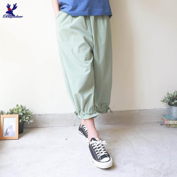 【下殺↘5折】American Bluedeer-寬褲口抽褶褲 春夏新款