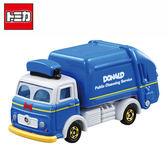 【日本正版】TOMICA 多美小汽車 DM-05 唐老鴨 垃圾車 玩具車 DISNEY MOTORS 迪士尼 - 894346