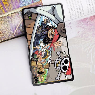 [機殼喵喵]SONY Xperia Z5 Premium Z5P E6853 手機殼 外殼 客製化 水印工藝 WZ174 神鬼奇航 海賊王