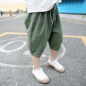 男童短褲 男童褲子夏季薄款寶寶棉麻燈籠褲兒童短褲寬鬆男孩洋氣小童七分褲【星時代女王】