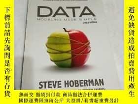 二手書博民逛書店【英文原版】Data罕見Modeling Made Simple
