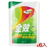 毛寶全效柔軟洗衣精補充包-強淨1800g*6入【愛買】