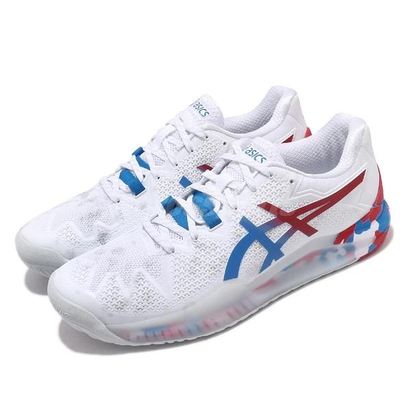 Asics 網球鞋 Gel-Resolution 8 L.E. Retro Tokyo 白 紅 男鞋 復刻東京 運動鞋 【ACS】 1041A111100