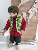 拜年服拜年服寶寶男 中國風童裝兒童過年衣服 男童新年裝寶寶唐裝呢大衣 雲雨尚品