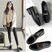 春季新款英倫小皮鞋女學生百搭平底韓版單鞋