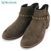 ★新品上市★【Bo Derek】鉚釘扣帶裸靴-卡其