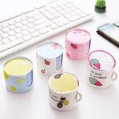 【04014】水果馬克杯便利貼 標籤貼 N次貼 便條紙 留言 文具 辦公室