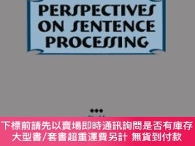 二手書博民逛書店Perspectives罕見On Sentence ProcessingY464532 Charles Cli