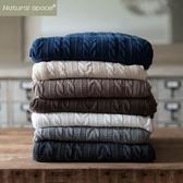 純棉INS薄小毛毯床毯針織毯午睡毯蓋毯單人毯子辦公室線毯雙人