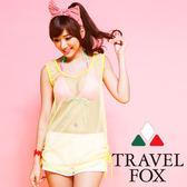 【TRAVEL FOX夏之戀】亮麗運動風大女外搭罩衫-C14704
