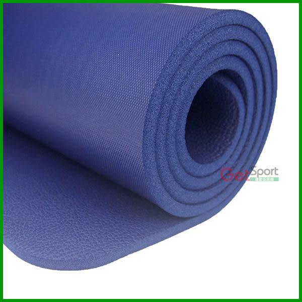 (免運費)加厚瑜珈墊10mm深藍(1公分瑜伽墊/NBR/台灣製/運動墊/防滑瑜珈墊/附背袋/韻律墊)