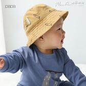 男女寶寶燈芯絨漁夫帽嬰兒遮陽帽兒童太陽帽子 【四月特賣】