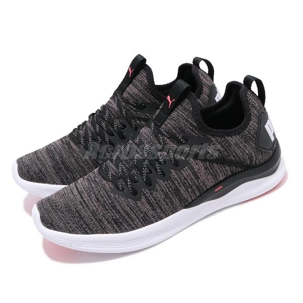 Puma 訓練鞋 Ignite Flash evoKnit 黑 粉紅 女鞋 運動鞋 多功能 【PUMP306】 19051120