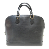 LOUIS VUITTON LV 路易威登黑色EPI水波紋手提包 ALMA PM M40302 【BRAND OFF】