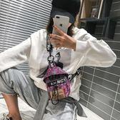 男士胸包2019新款潮流迷彩歐美時尚單肩背包街拍情侶學生斜挎包女