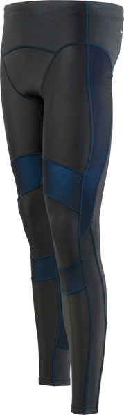 ASICS  亞瑟士 男 全長緊身褲RF   (黑/藍) 體軸調整壓縮褲  XA3525-9045  【胖媛的店】