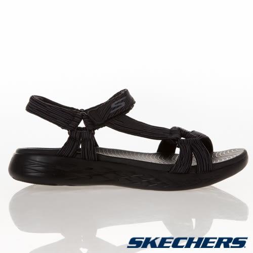 SKECHERS系列-女款ON THE GO 600 黑色健走涼鞋-NO.15319BKGY