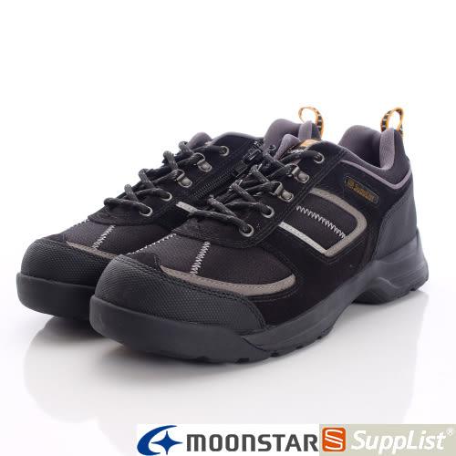 【MOONSTAR】Supplist戶外健走鞋-(4E寬楦)休閒紓壓款-58TEF6黑-男段(24.5cm、25cm)