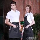 牛仔圍裙廚房家居做飯圍裙男女韓版時尚咖啡店工作服圍裙 草莓妞妞