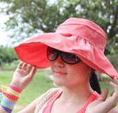 韓風遮陽帽【FSS005】夏日時尚空頂遮陽帽 陽光 遮陽 收納女王