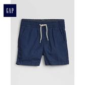 Gap嬰兒 舒適鬆緊卡其短褲 441364-海軍藍色