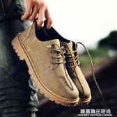 春季短靴男韓版潮流休閒鞋工裝大頭皮鞋低筒復古板鞋馬丁靴男靴子