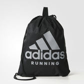 ADIDAS RUNNING GYM BAG 束口袋 後背 運動 訓練 黑 【運動世界】S96355